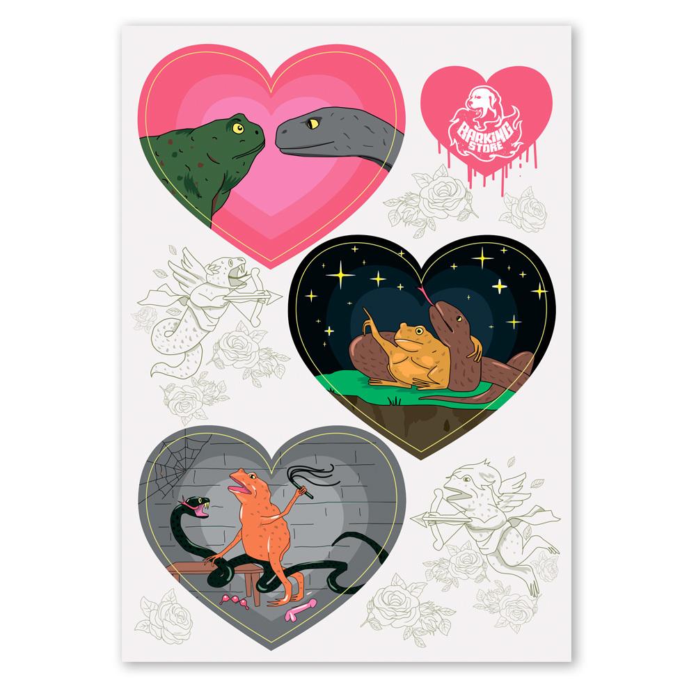 Жаба и гадюка in love / стикеры