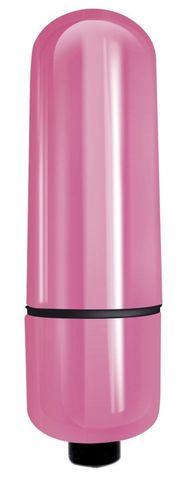 Розовая гладкая вибропуля Mady - 6 см.
