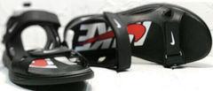 Модные сандали босоножки спортивного типа Nike 40-3 Leather Black.
