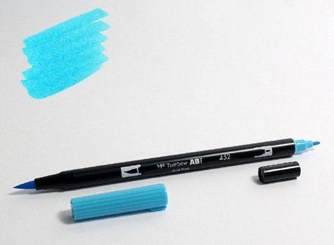 Маркер-кисть Tombow ABT Dual Brush Pen-452, голубой процесс