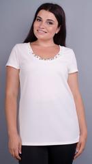 Дона. Жакет+блуза для жінок великих розмірів. Молоко.