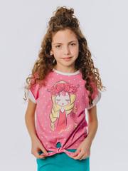 Футболка Батик детская в розовом цвете с короткими рукавами купить