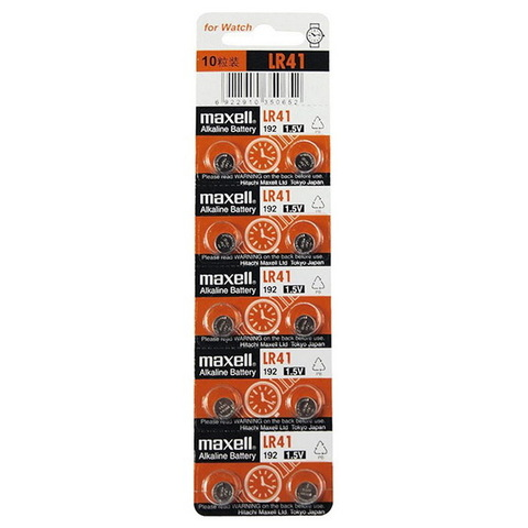 Батарейки часовые Maxell LR41 (392, AG 3) 10 BL