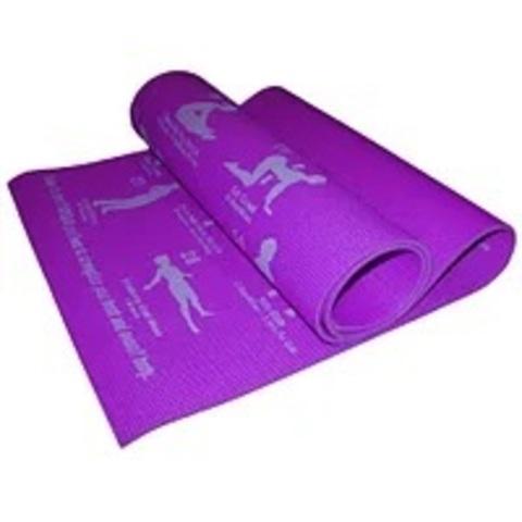 Коврик для йоги. Размер 172 см х 61 см х 0,5 см. Цвет фиолетовый. RW-6-Ф (Спр) (16663-1)