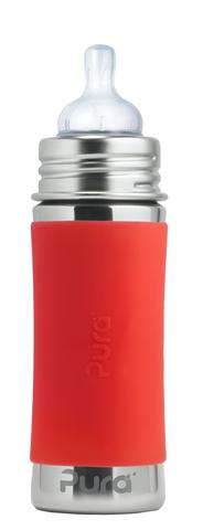 Детская стальная бутылочка для кормления Pura Kiki 325 мл (3 мес+) (оранжевый)