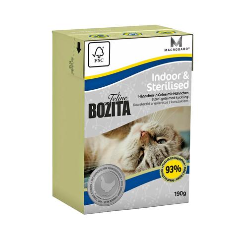Bozita Feline Funktion Indoor & Sterilised Tetra Pak Консервы для домашних, стерилизованных и малоподвижных кошек с курицей, кусочки в желе