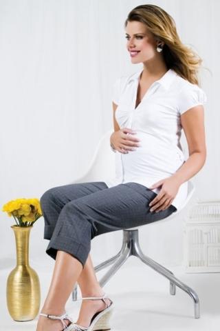 Капри для беременных 04242 серый
