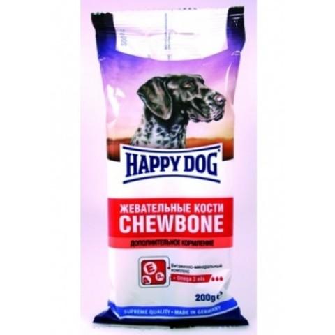 HAPPY DOG КОСТИ ЖЕВАТЕЛЬНЫЕ /ДОП КОРМЛЕНИЕ/ 0.2 кг