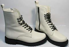 Модные зимние ботинки для девушек Ari Andano 740 Milk Black.
