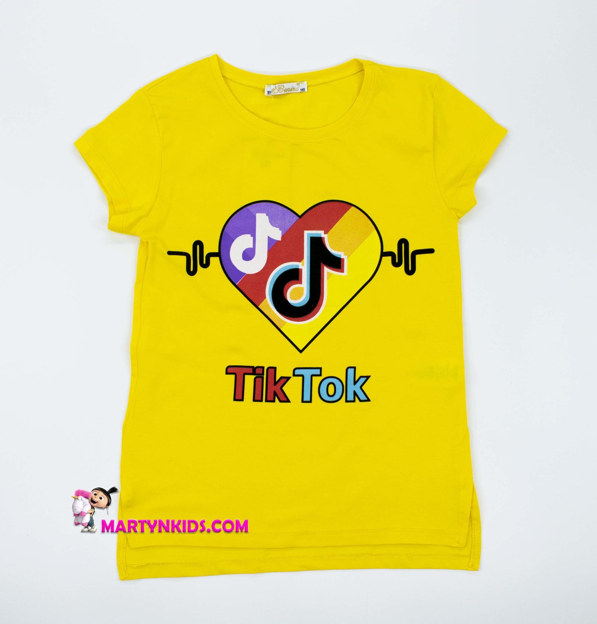 2586 футболка TIK TOK сердце