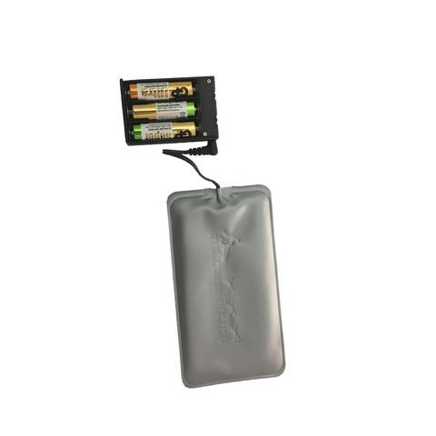 Греющий модуль работает от 3 пальчиковых батареек (тип АА)