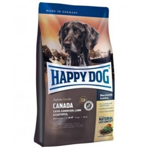 Happy Dog Supreme Sensible - Canada на основе лосося, кролика, ягненка и картофеля 12.5 кг