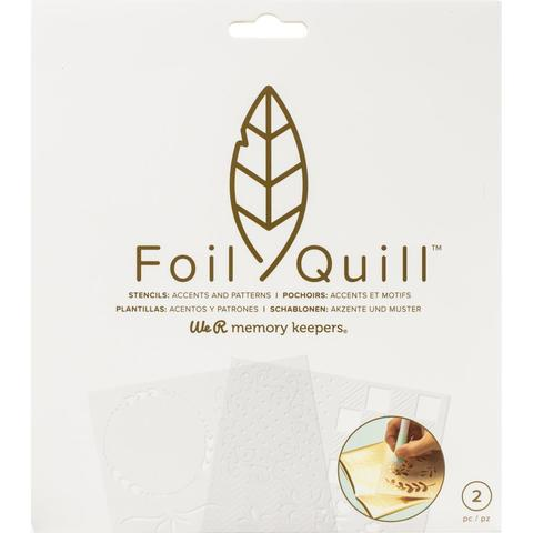 Трафарет для фольгирования 18х18 см Foil Quill Freestyle Stencils by We R Memory Keepers Accents & Patterns -2 шт