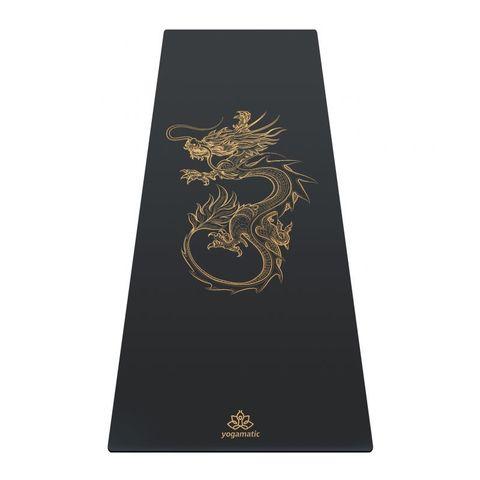 Каучуковый коврик для йоги Dragon Grey Gold 185*68*0,4 см