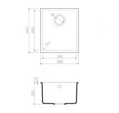 Схема Omoikiri Bosen 38-U-CH