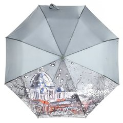 Зонт женский, город с каплями, Planet PL-154-2