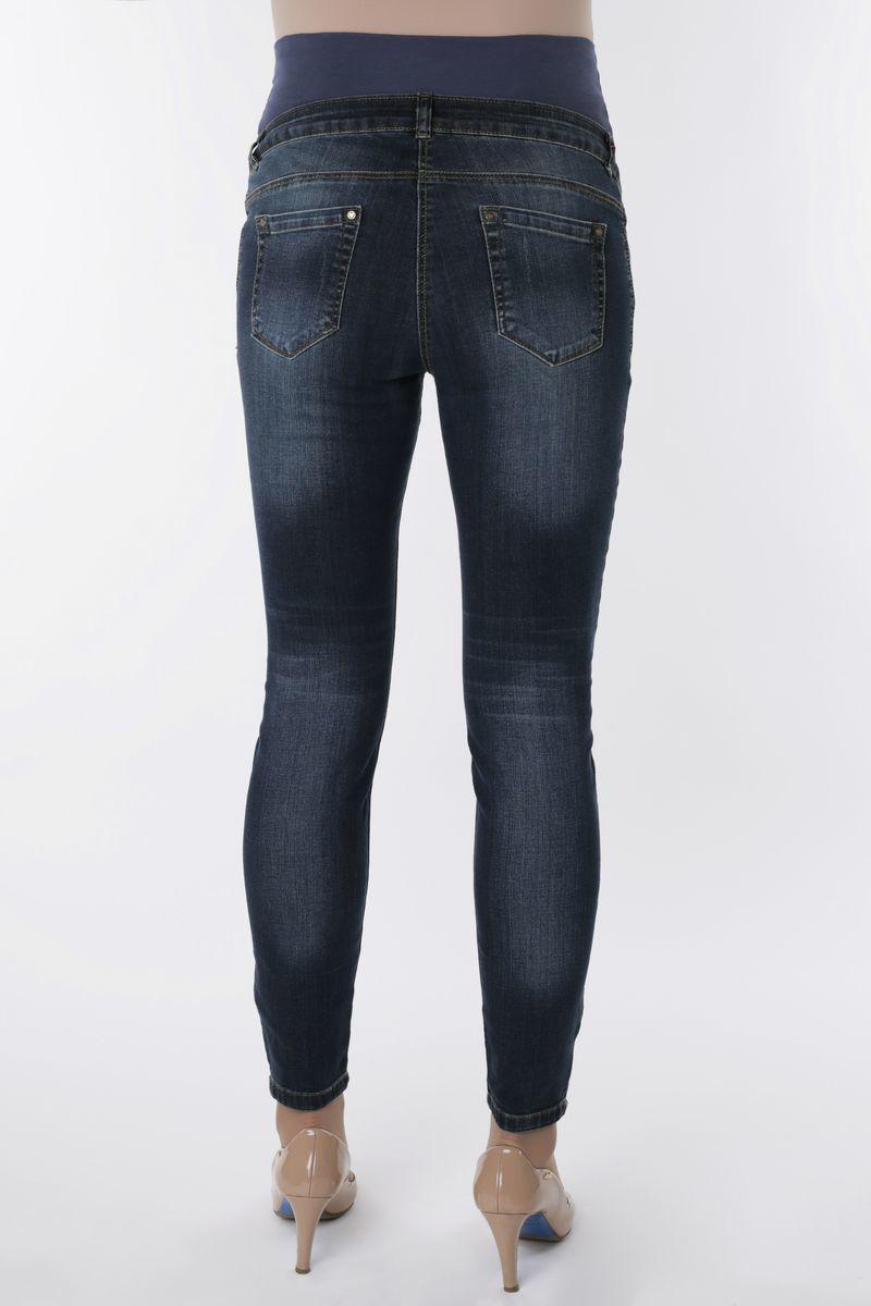 Фото джинсы для беременных MAMA`S FANTASY, высокая вставка, средняя посадка, из стрейчевого денима от магазина СкороМама, синий, размеры.