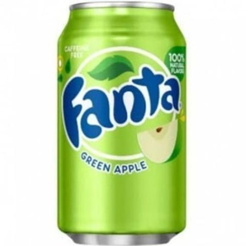 Fanta Green apple Фанта Зеленое яблоко 0,355 л