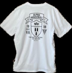 Футболка Alpha Industries Back А Logo White (Белая)