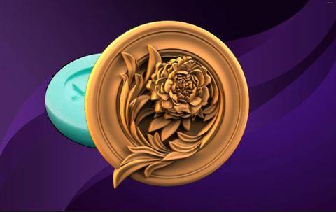 Силиконовый молд № 488 Медальон/розетка