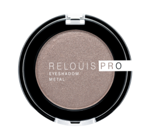 RELOUIS Тени Pro Eyeshadow Metal  тон 52, cocoa milk