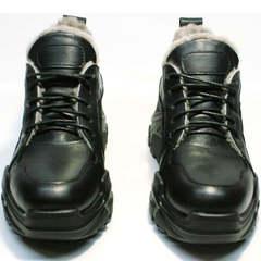 Черные зимние кроссовки женские Studio27 547c All Black.