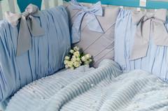 Комплект постельного белья для новорождённых Шарм 10-02 голубой