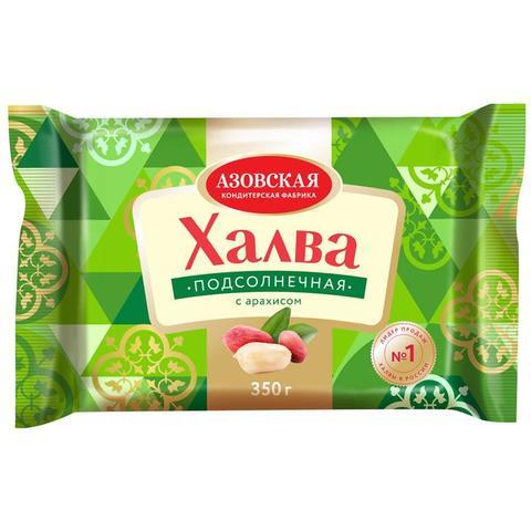 """Халва """"Азов"""" Подсолнечная с арахисом 350г"""