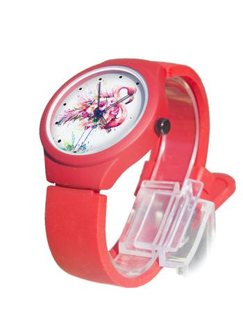 Часы наручные Фламинго № 1 красные