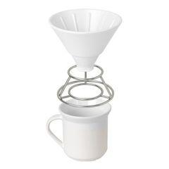 Набор для пуровера UMBRA: воронка, подставка для воронки, чашка