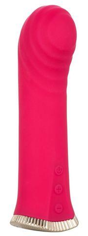 Ярко-розовый мини-вибромассажер для стимуляции точки G Uncorked Merlot - 13,25 см.