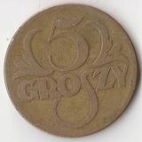 K7524, 1923, Польша, 5 грошей