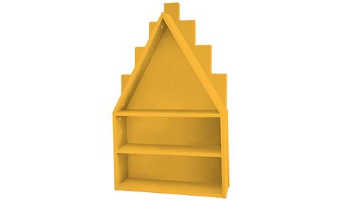 Полка-домик желтая
