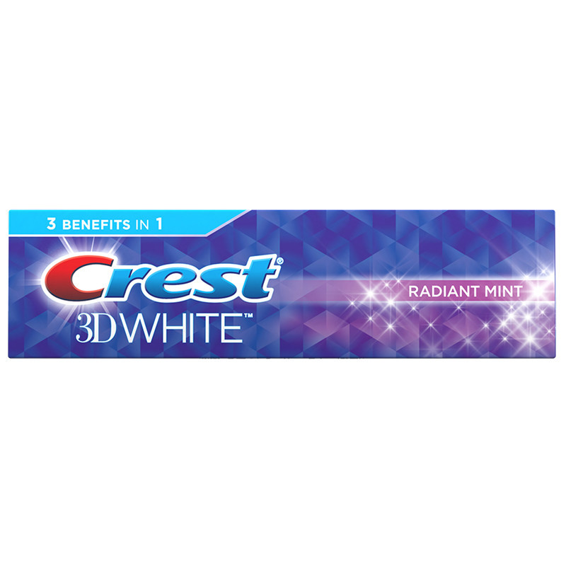 Отбеливающая зубная паста Crest 3D White Radiant mint 116гр