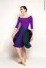 Двусторонняя юбка | изумрудный-фиолетовый