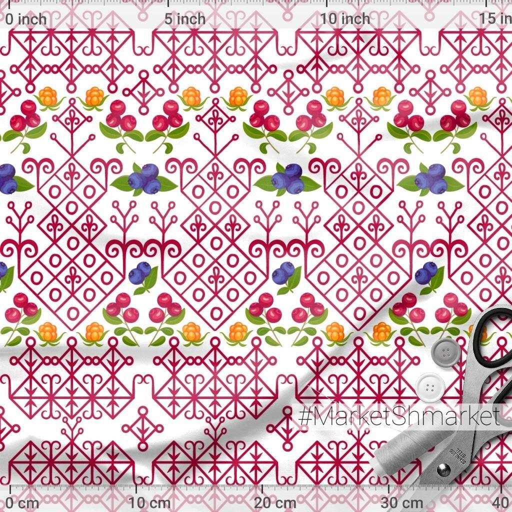 Карельские узоры с ягодами (Дизайнер Irina Skaska)