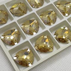 Оптом  купить пришивные стразы Golden Shadow Trilliant золотистые