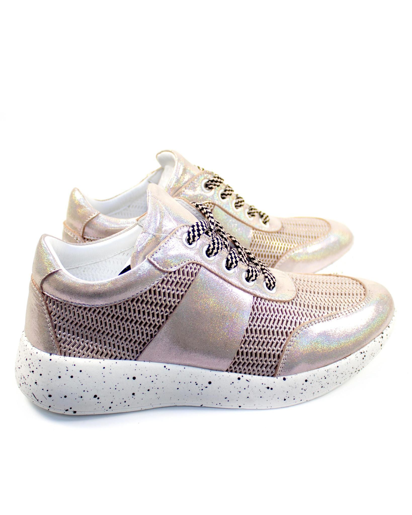 розовые кроссовки Mario Muzi