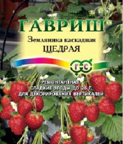 Земляника ампельная Щедрая пробирка 4шт