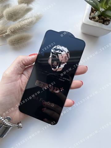 Стекло защитное 9D+ iPhone 8 Plus/7 Plus 0,18 /black/ Ultra thin