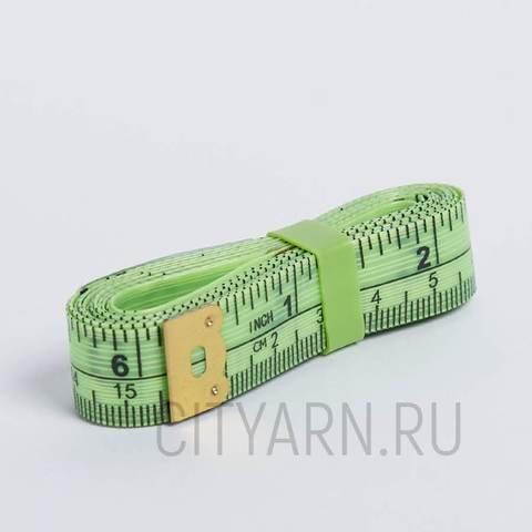 Сантиметровая лента 150см/60 дюймов, ярко-салатовая