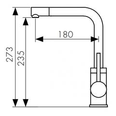 Смеситель KAISER Teka 13144 для кухни (3 цвета) схема