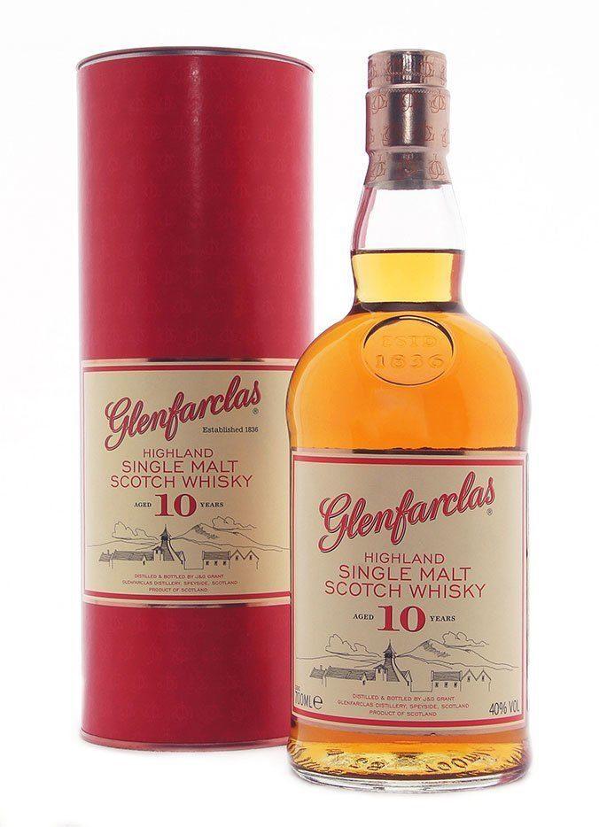 Шотландский виски Гленфарклас, выдержка 10 лет, 0,7 л.
