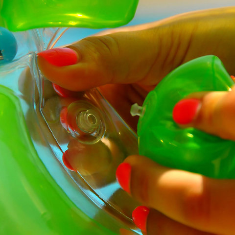 Круг на шею для плавания Baby-Krug 3D, зеленый, от 3 мес до 6 лет