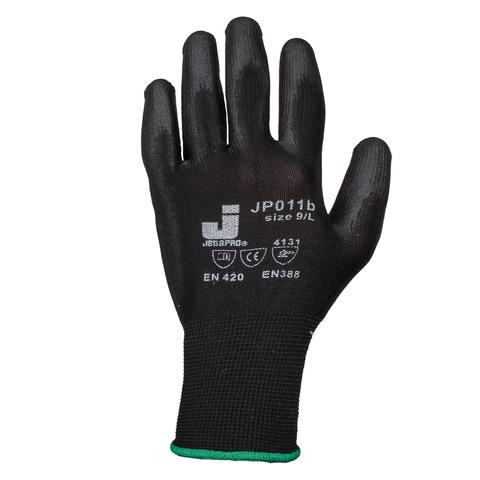 Jeta Pro Перчатки защитные с полиуретановым покрытием (черные) L