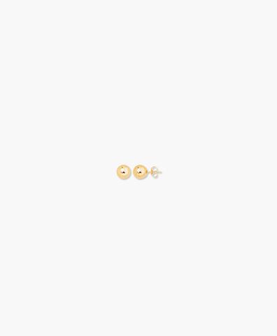 Серьги-гвоздики Ball gold 3 mm