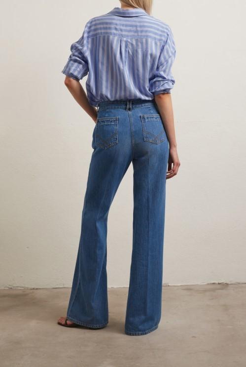 ANNA - Широкие джинсы с высокой талией