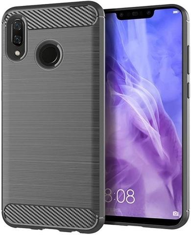 Чехол Huawei Nova 3 цвет Gray (серый), серия Carbon, Caseport