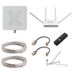Комплект с антенной AGATA MIMO 2x2 для усиления 2G/3G/4G/LTE сигнала