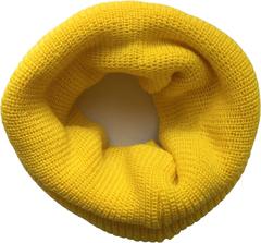 Желтый шарф-труба или шарф-тоннель